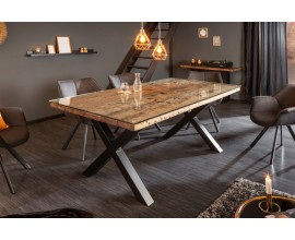 Industriálny jedálenský stôl Barracuda z dreva s kovovými nohami 180cm