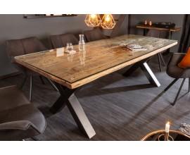 Industriálny jedálenský stôl Barracuda z dreva a kovu 220cm