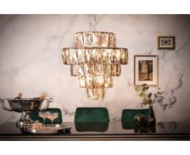 Art-deco luxusný kryštálový luster Leontin zo skla a kovu 50cm