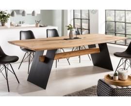 Industriálny jedálenský stôl Harrington z masívneho dubového dreva 200cm