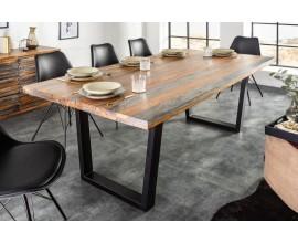 Industriálny jedálenský stôl Spin z masívneho dreva Sheesham 180cm