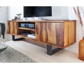 Moderný elegantný TV stolík Fire and Earth 160cm z dreva sheesham