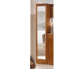 Luxusná zrkadlová šatníková skriňa Carmen z masívu hnedá 40cm