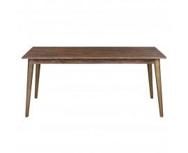 Retro jedálenský stôl HAVANA ORO so zlatými nohami 180cm