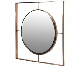 Art-deco nástenné zrkadlo Giamo s kovovým medeným rámom 80cm