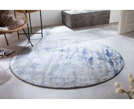 Orientálny kruhový koberec Adassil s modrým vzorom 150cm