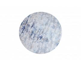 Orientálny okrúhly koberec Adassil s modrým vzorom 150cm