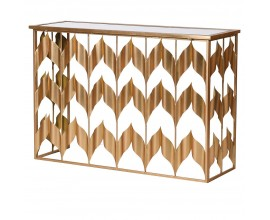 Art-deco luxusný konzolový stolík zlatý 120 cm