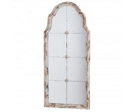 Provensálske oblúkové nástenné zrkadlo s ozdobným rámom 122 cm