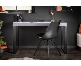 Nadčasový konzolový stolík Simparda v sivej farbe s čiernou kovovou konštrukciou v tvare U