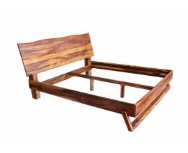 Dizajnová vidiecka manželská posteľ Sheesham z masívneho palisandrového dreva 200cm