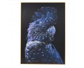 Štýlový nástenný obraz Right Blue Parrot 142 cm