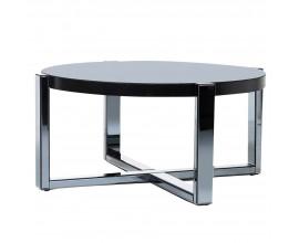 Zrkadlový kruhový konferenčný stolík Mirea zo skla 98cm