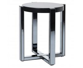 Zrkadlový príručný stolík Mirea kruhového tvaru zo skla 52cm
