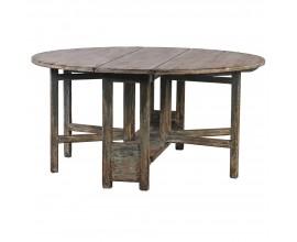 Vidiecky okrúhly jedálenský stôl Salazar z masívneho dreva 160cm