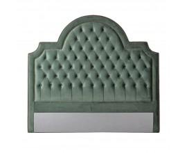 Chesterfield čelo postele Sabia v šalviovo zelenom zamatovom poťahu 200cm