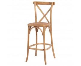Vidiecka barová stolička Peura z dubového masívu s nožičkami 114cm
