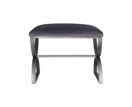Moderná taburetka Jetta so sivým čalúnením s kovovou konštrukciou 56cm
