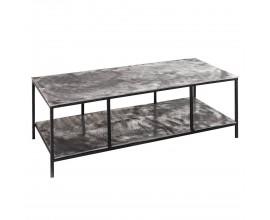Moderný dizajnový konferenčný stolík Farrah v sivej farbe z kovu 110cm