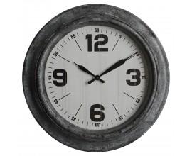 Retro dizajnové nástenné hodiny Nomad okrúhleho tvaru v čiernej farbe 45cm