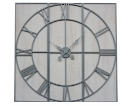 Moderné dizajnové nástenné hodiny Rosa z dreva a kovu 112cm