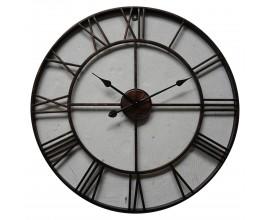 Retro nástenné kruhové hodiny Edon z kovu bronzovej farby 70cm
