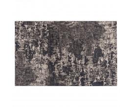 Dizajový béžový vintage obdĺžnikový koberec Solapur s abstraktným vzorom čiernej farby