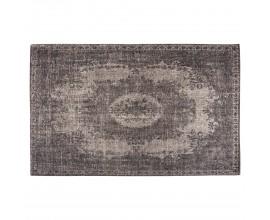Jedinečný vintage obdĺžnikový koberec Solapur s orientálnym vzorom hnedej farby