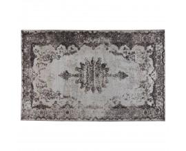 Jedinečný béžový vintage obdĺžnikový koberec Solapur s orientálnym vzorom sivej farby