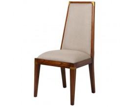 Koloniálna jedálenská stolička DARK RICH s čalúnením 103cm