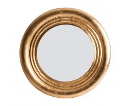 Luxusné art-deco okrúhle veľké nástenné zlaté zrkadlo 142cm