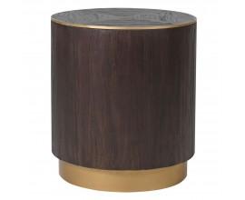 Dizajnový čierny okrúhly príručný stolík Ramia 50 cm