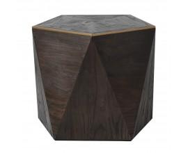 Dizajnový čierny príručný stolík Ramia v tvare päťuholníka 57 cm