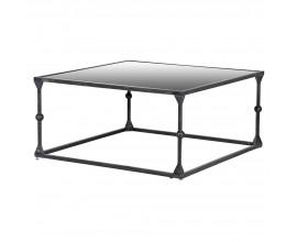 Zrkadlový konferenčný stolík Specolare s tmavo sivou železnou podstavou 90cm