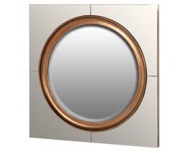 Art-deco nástenné zrkadlo Spera Quadrata v off white bielom štvorcovom ráme 107cm