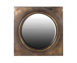 Vintage nástenné zrkadlo Messina v štvorcovom ráme v medenej farbe 107cm