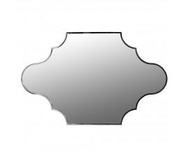 Art-deco nástenné zrkadlo s lesklým rámom v chrómovej farbe 96 cm