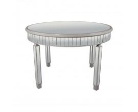 Art-deco luxusný okrúhly zrkadlový jedálenský stôl Padme s priestrannou povrchovou doskou 120cm