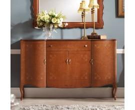 Luxusný rustikálny vyrezávaný príborník RUSTICA 140cm z masívu v klasickom štýle