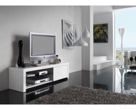 Moderný TV stolík Henning v lakovanom bielom prevedení 150cm
