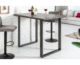 Industriálny barový stôl Steele Craft mango šedý