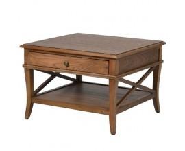Vidiecky nočný stolík z prírodného masívu so zásuvkou 65cm