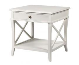 Provensálsky nočný stolík Amarante so zásuvkou v bielej farbe 60cm