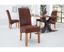 Štýlové vintage stolička Valentino káva