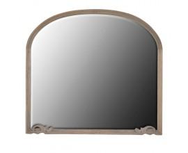 Venkovské nástěnné zrcadlo Kolonial s dřevěným rámem půlobloukového tvaru s vyřezávanými prvky 93cm