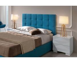 Moderná čalúnená posteľ Carla s geometrickým prešívaním na čele 90-180cm