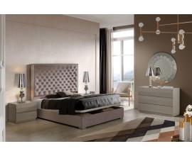Luxusná chesterfield manželská posteľ Melody s čalúnením a s úložným priestorom 150-180cm