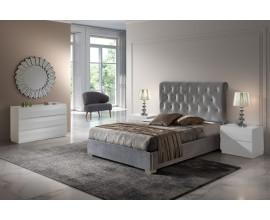 Luxusná čalúnená posteľ Melisa s čelom s chesterfield prešívaním 150-180cm