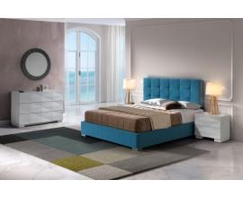 Dizajnová moderná posteľ Carla s čalúnením s geometrickým prešívaním