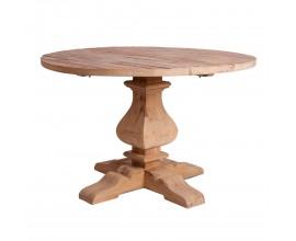 Okrúhly jedálenský stôl naturálnej hnedej farby BERN 120cm